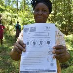 The Water Project: Wajumba Community, Wajumba Spring -  Use Of Handouts At The Training