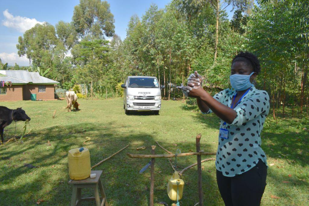 The Water Project : covid19-kenya19104-handwashing-steps-demonstration-3