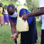 The Water Project: Mukhuyu Community, Kwakhalakayi Spring -  Ensure You Rinse Your Hands Using Clean Running Water