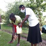 The Water Project: Mukhuyu Community, Kwakhalakayi Spring -  Handwashing Demonstration Exercise