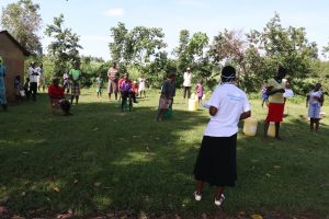 The Water Project:  The Facilitator Leading A Training At Makhuyu Kwakhalakayi Spring