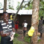The Water Project: Burachu B Community, Namukhuvichi Spring -  A Girl Showcasing Her Handwashing Skills