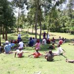 The Water Project: Imbinga Community, Arunga Spring -  Social Distancing Check