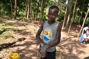The Water Project:  A Young Boy Excited To Wash His Hands