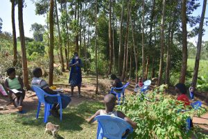 The Water Project:  Ms Shigali Leading A Training Session At Ambundo Spring