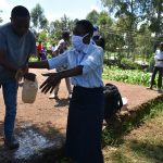 The Water Project: Lutonyi Community, Lutomia Spring -  Handwashing Demonstrations