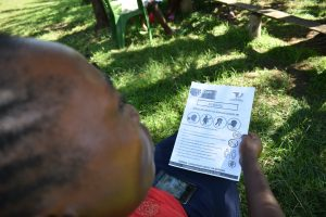 The Water Project:  Leaflets With Covid Information Used At The Training