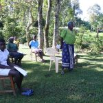 The Water Project: Buyangu Community, Mukhola Spring -  An Elderly Woman Reacting To The Training