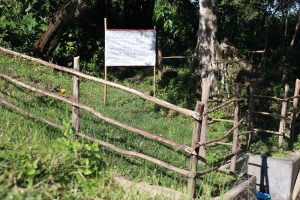 The Water Project:  Installed Reminder Chart At Mukhola Spring