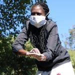 The Water Project: Buyangu Community, Mukhola Spring -  Demonstrating Ten Handwashing Steps