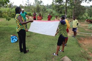 The Water Project:  A Sack With Covid Information Used To Expound On The Training