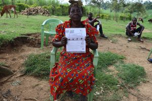 The Water Project:  An Elderly Woman Attending Training For Makokha Spring
