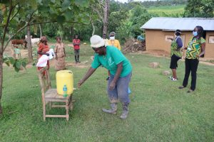The Water Project:  Use Of Local Materials To Make Handwashing Station