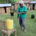 The Water Project: Emurumba Community, Makokha Spring -  Use Of Soap In Handwashing Very Critical In Neutralizing Virus