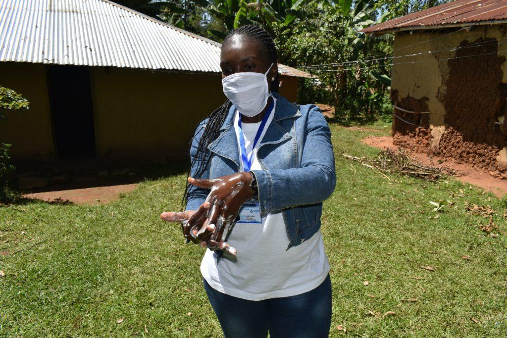 The Water Project : covid19-kenya19155-handwashing-demonstration