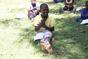 The Water Project:  Children Following Handwashing Tips