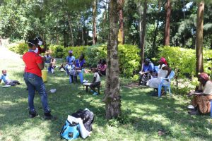 The Water Project:  Conducting Training Under A Tree