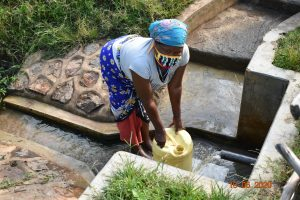 The Water Project:  Margaret Mbone Fetching Water