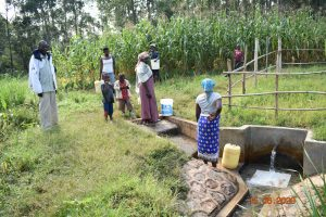The Water Project:  Margaret Mbone And Other Water User Committee Members