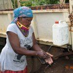 The Water Project: Sichinji Community, Kubai Spring -  Margaret Mbone At Her Hand Washing Station
