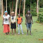 The Water Project: Sichinji Community, Kubai Spring -  Margaret Mbone With Her Kids