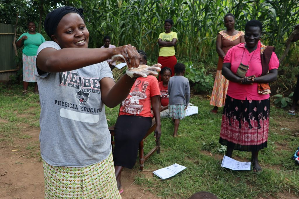 The Water Project : covid19-kenya4289-handwashing-demonstration-5
