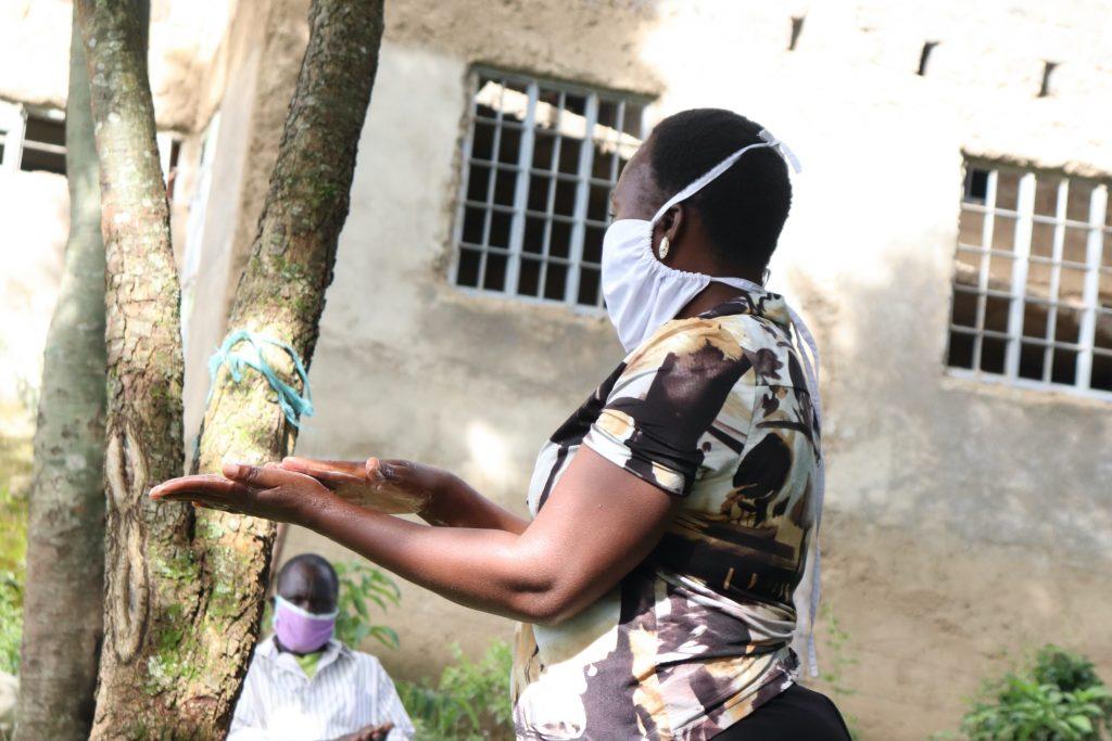 The Water Project : covid19-kenya4374-ten-steps-of-handwashing
