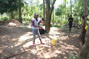 The Water Project:  Young Girl Demonstrates How To Wash Hands