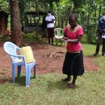 The Water Project: Mutambi Community, Kivumbi Spring -  Handwashing Demonstration