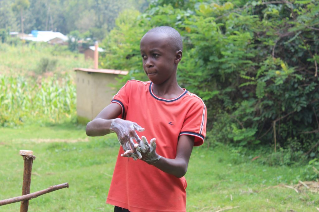 The Water Project : covid19-kenya4735-handwashing-demonstration