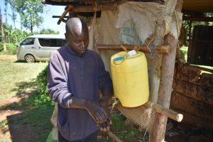 The Water Project:  Installed Handwashing Point In Community