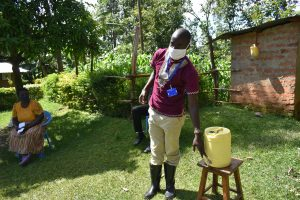 The Water Project:  Using A Water Jerrycan As A Handwashing Container