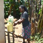 The Water Project: Elunyu Community, Saina Spring -  A Homemade Handwashing Point