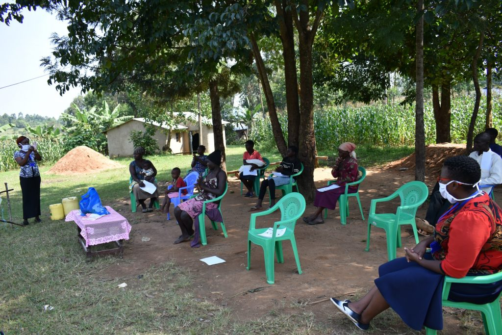 The Water Project : covid19-kenya4850-ms-mary-leading-a-training-session