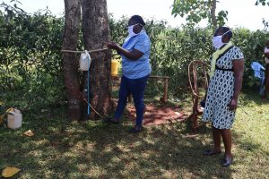 The Water Project:  Demonstrating How To Use The Handwashing Point