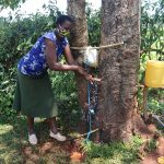 The Water Project: Mtao Community, Tifina Odari Spring -  Handwashing Demonstration