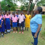 The Water Project: Bulukhombe Primary School -  Patience Demonstrates Dental Hygiene