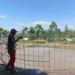 The Water Project: Bulukhombe Primary School -  Brc Wire Installation For Reinforcement Of The Tank Walls