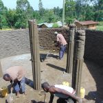 The Water Project: Bulukhombe Primary School -  Tank Inside Plaster And Pillar Setting