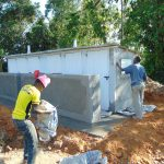 The Water Project: Bulukhombe Primary School -  Latrine Finishing Works