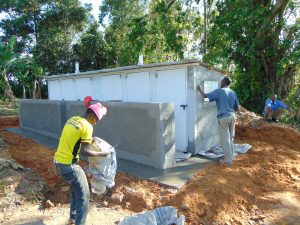 The Water Project:  Latrine Finishing Works