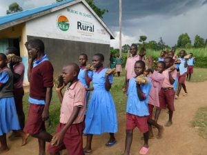 The Water Project:  Pupils Ferrying Hardcore For Construction Before Schools Closed