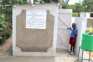 The Water Project:  A Pupil At The Boys Latrines