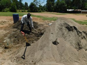 The Water Project:  Mixing Concrete