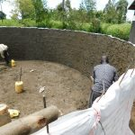 The Water Project: Mukoko Baptist Primary School -  Inside Tank Rough Casting