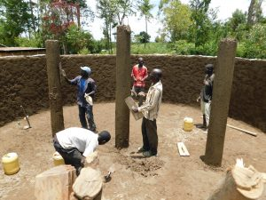 The Water Project:  Construction Of The Pillars