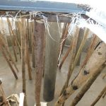 The Water Project: Mukoko Baptist Primary School -  Poles Inside Tank Supporting Dome