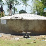 The Water Project: Mukoko Baptist Primary School -  Placement Of Manhole Cover