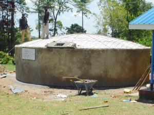 The Water Project:  Placement Of Manhole Cover