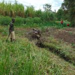 The Water Project: Mukhonje Community, Mausi Spring -  Opening Up The Drainage